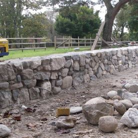 Natural stone wall - AB Jardin Sarl
